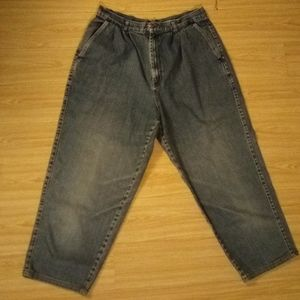 Vintage high rise cropped jeans